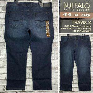 NWT Buffalo TRAVIS-X Men's 44 x 30 Dark Wash Jeans